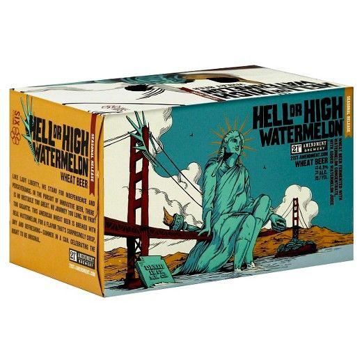 21st Amendment Hell Or High Watermelon 12oz 6Pk Cans