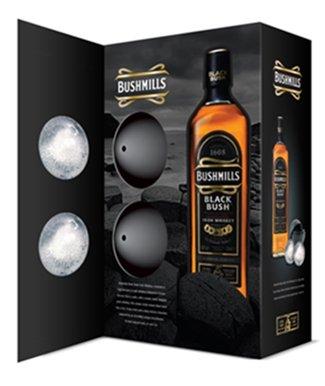 Bushmills Black Bush Gift Set 750ml 2 ice Balls
