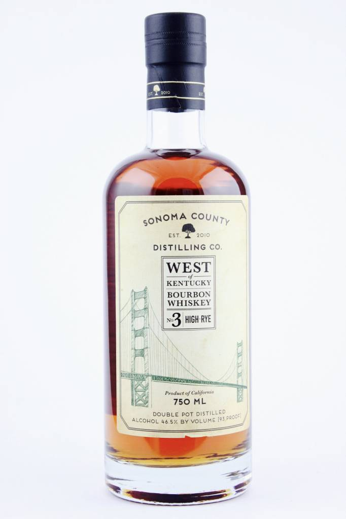 Sonoma County Distilling Co. Rye 93 Pf. 750ml