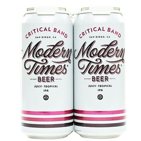 Modern Times Critical Band Juicy Tropical IPA 16oz 4Pk Cans