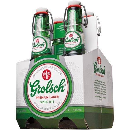 Grolsch Lager 4 pack btl 15.2 oz