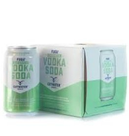 Cutwater Fugu Cucumber Vodka Soda 12oz 4Pk Cans