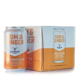 Cutwater Rum & Ginger 12oz 4Pk Cans