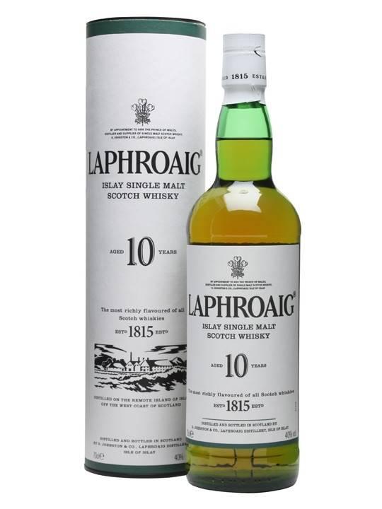 Laphroaig Islay Single Malt Whiskey 10yr 750ml
