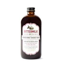 Bittermilk No3 Non-Alcoholic Cocktail Mixer Smoked Honey Whiskey Sour 17oz