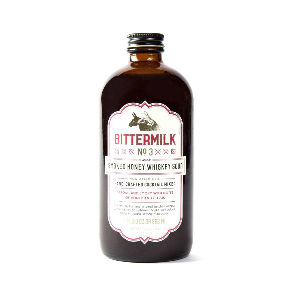 Bittermilk No3 Non-Alcoholic Cocktail Mixer Smoked Honey Whiskey Sour 17oz