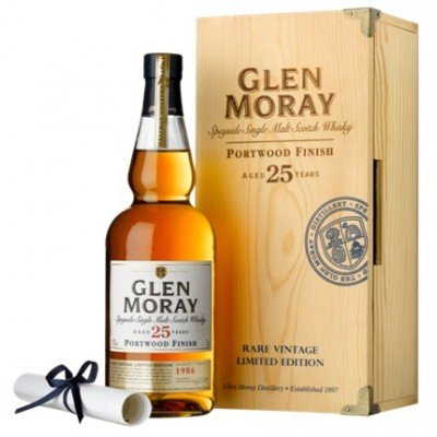 Glen Moray 25Yrs. Speyside Single Malt Scotch Whisky Port Cask Finish 750ml
