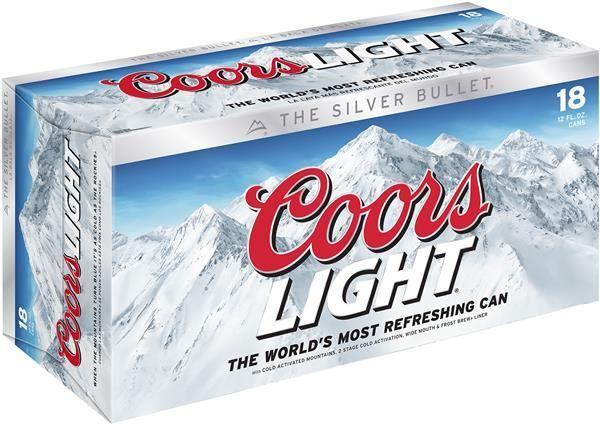 Coors Light 12oz 18Pk Cans