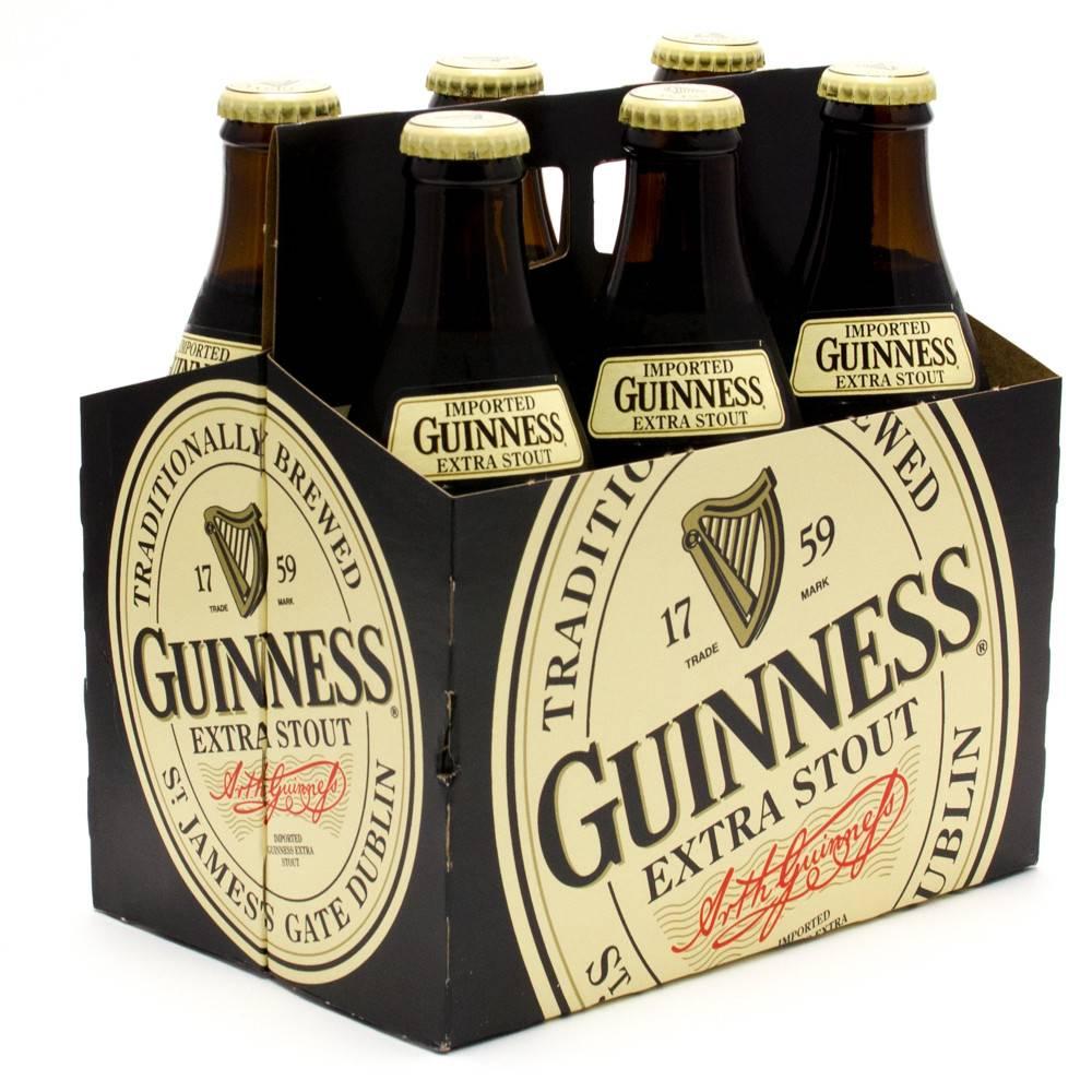 Guinness Extra Stout 12oz 6Pk Btls