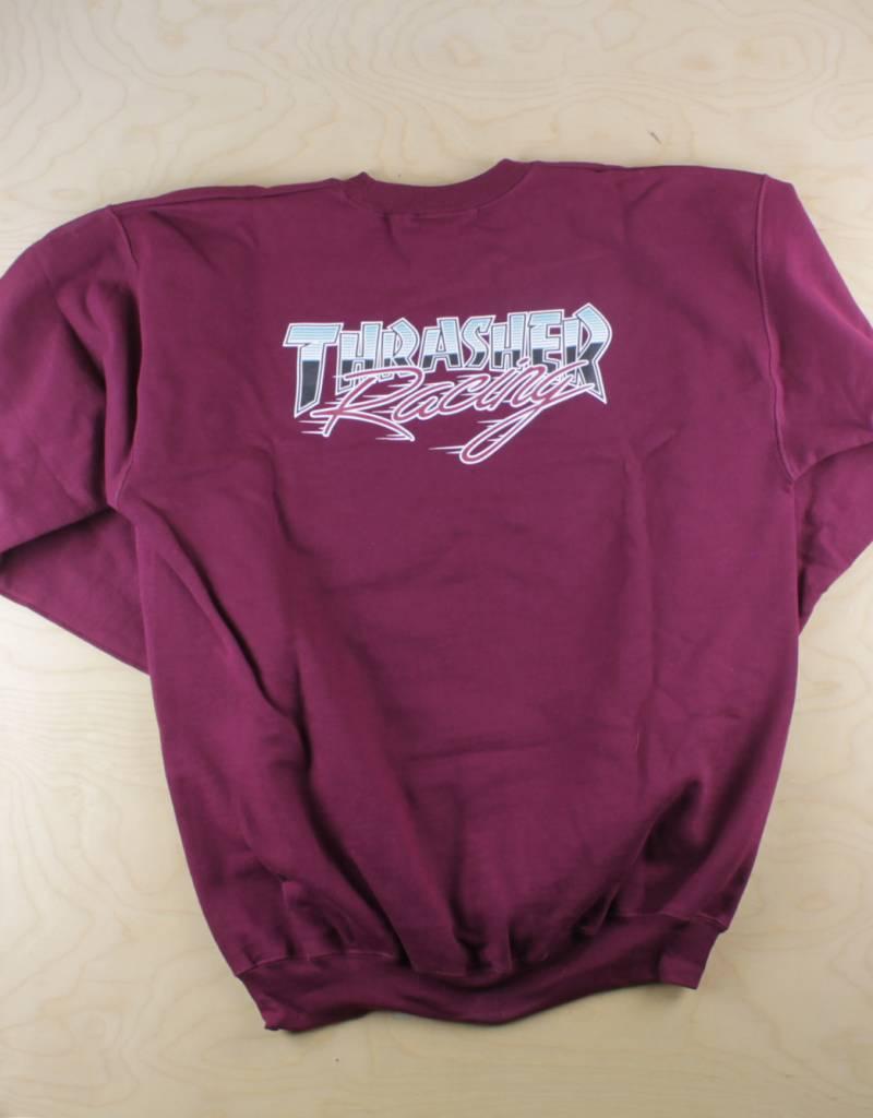 Thrasher Thrasher - Racing Crewneck Maroon