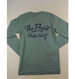 The Point The Point - Classic Logo L/S Army Green/Black