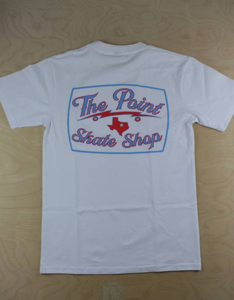 The Point The Point - Classic Logo Pocket Tee White/Red/Blue