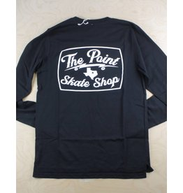The Point The Point - Classic Logo Tee L/S Black/White
