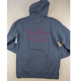 The Point The Point - Classic Logo Hoodie Asphalt Heather/Burgundy