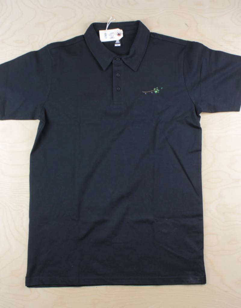 The Point The Point - Wood Pusher Polo Tee Black