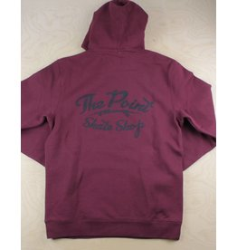 The Point The Point - Classic Logo Hoodie Burgundy/Black