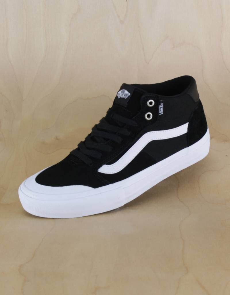 be6ccea84ef780 Vans - 112 Mid Pro Black White - The Point Skate Shop