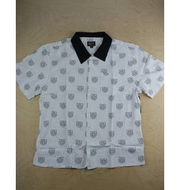 Brixton Brixton - Indy Trial Button Up White/Black