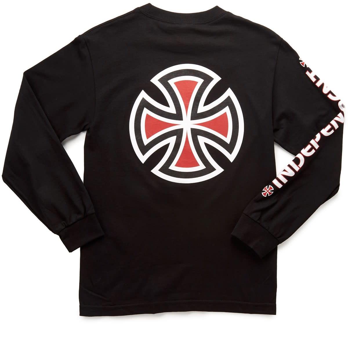 Independent Independent - Bar/Cross L/S Regular  Black