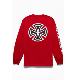 Independent Independent - Bar/Cross L/S Regular T-Shirt Cardinal