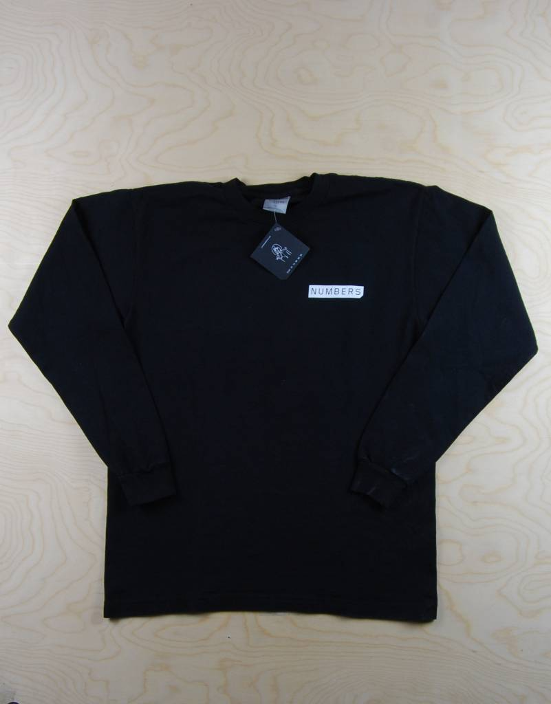 Numbers Numbers - Mitered Logotype L/S Black