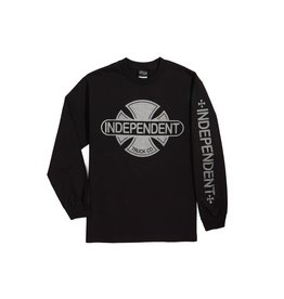 Independent Independent - Baseplate L/S Regular T-Shirt Black w/Silver