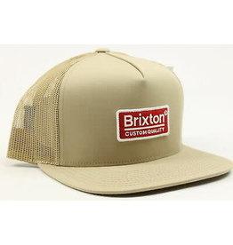 Brixton Brixton - Palmer Mesh Cap Khaki/Red