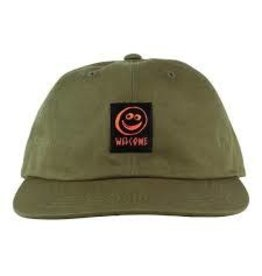 Welcome Welcome - Smiley Unstructured Snapback Olive