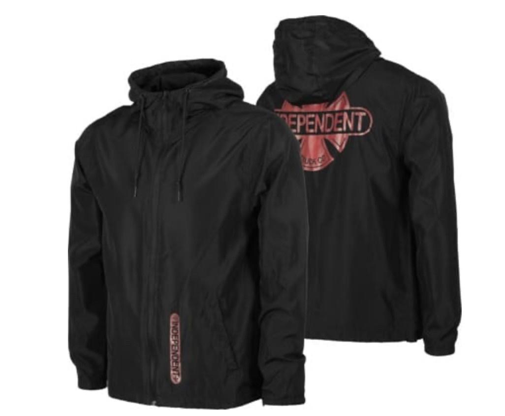 Independent Independent - Baseplate Hooded Windbreaker L/S  Black