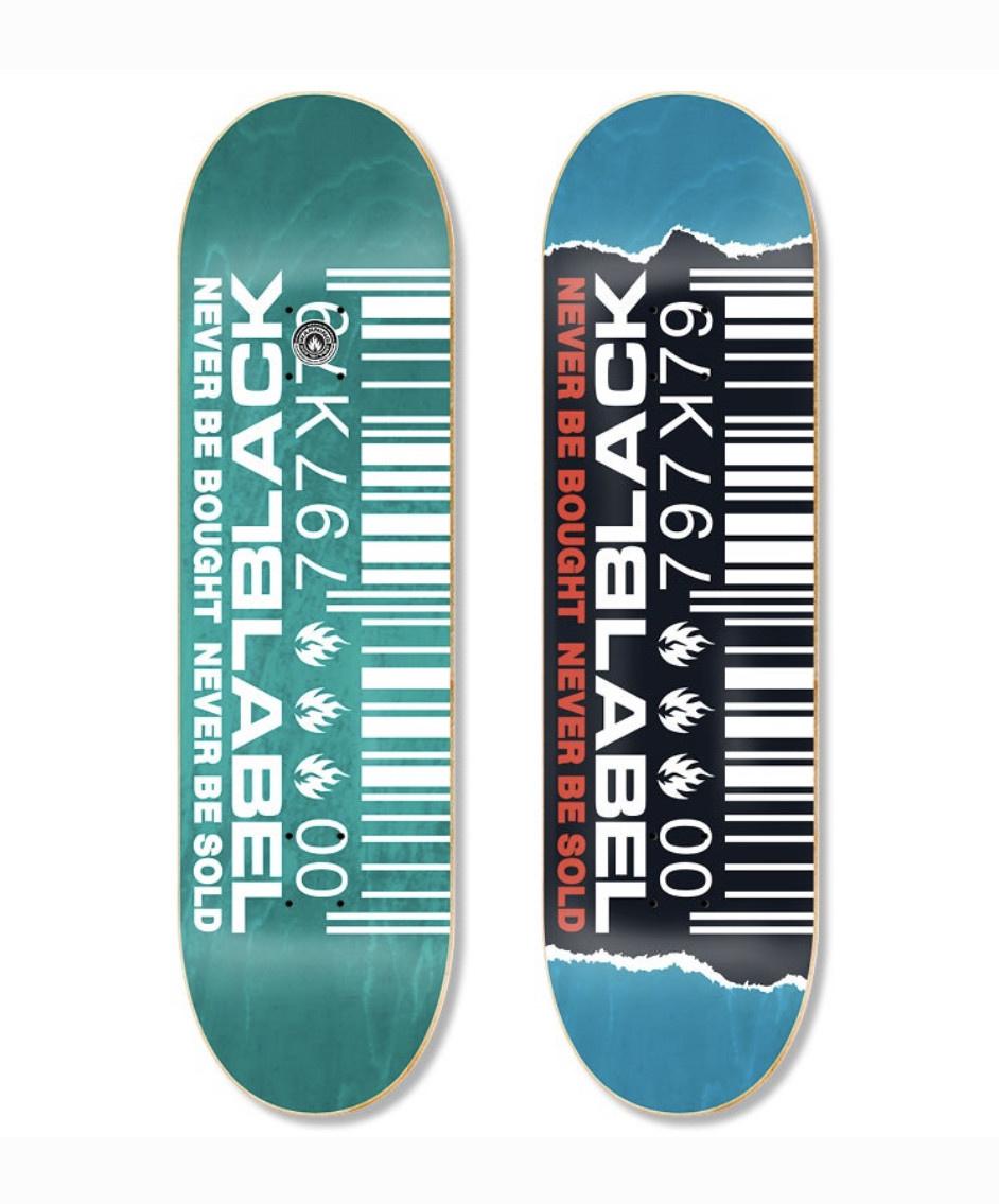 Black Label Black Label - 8.5 Ripped Barcode