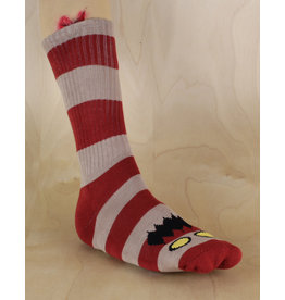 Toy Machine Toy Machine - Monster Big Stripe Sock Burgandy