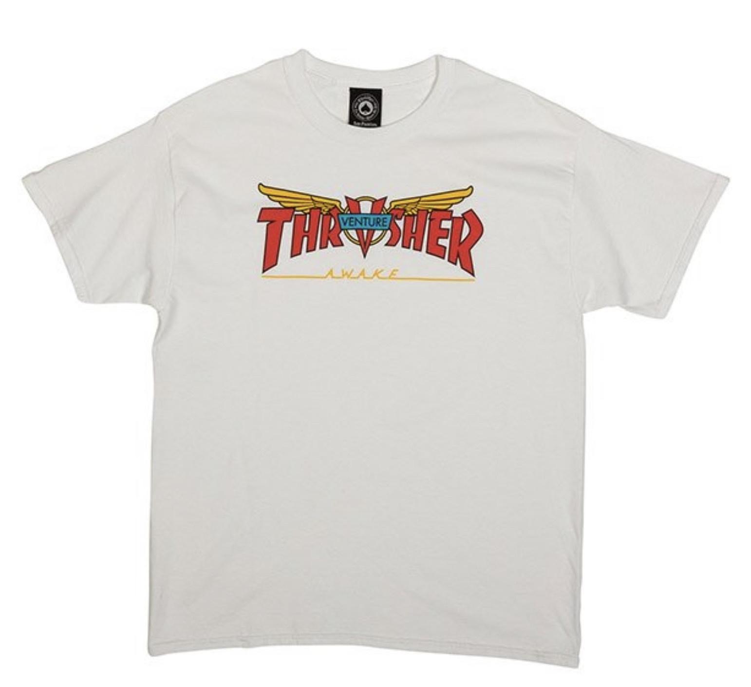Thrasher Thrasher - Venture Collab SS White