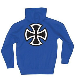Independent Independent - Bar/Cross P/O Hooded Midweight Sweatshirt Royal Blue