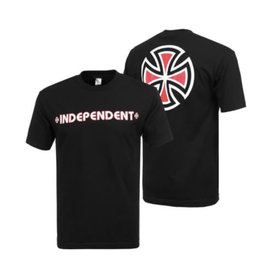 Independent Independent - Bar/Cross S/S Regular T-Shirt Black