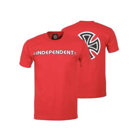 Independent Independent - Bar/Cross S/S Regular T-Shirt Cardinal