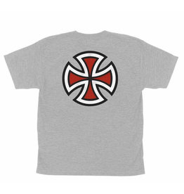 Independent Independent - Bar/Cross S/S Regular T-Shirt Ath Hthr Youth