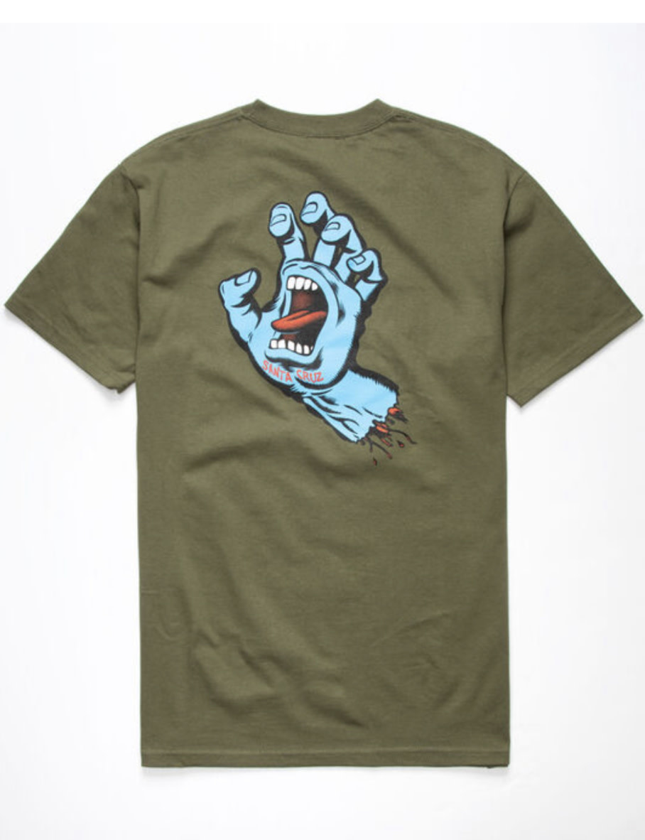 Santa Cruz Santa Cruz - Screaming Hand S/S Regular T-Shirt Military Green