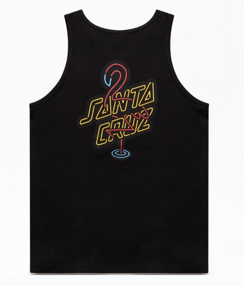 Santa Cruz Santa Cruz - Glow Tank Regular T-Shirt Black