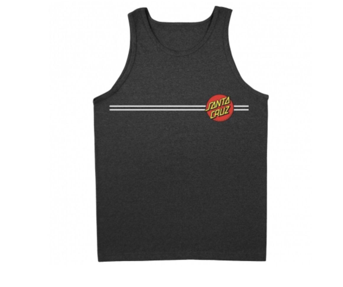 Santa Cruz Santa Cruz - Classic Dot Tank Regular T-Shirt Char Hthr