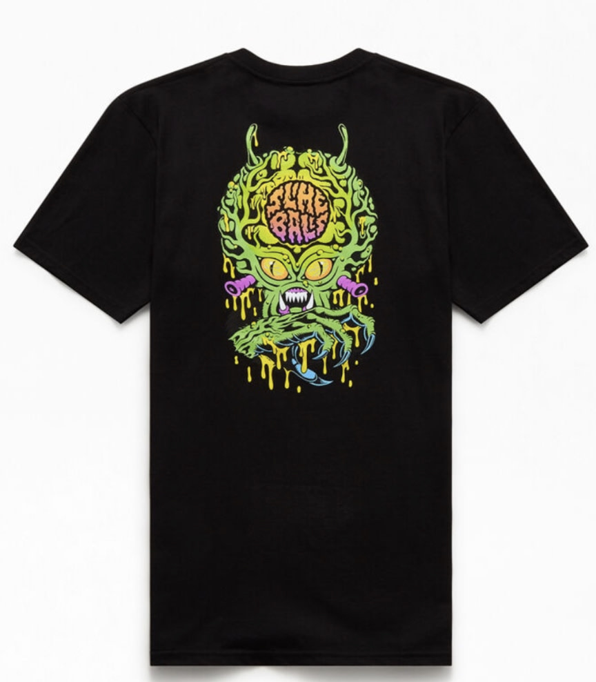 Slime Balls Slime Balls - Freak Invader S/S Regular T-Shirt Black