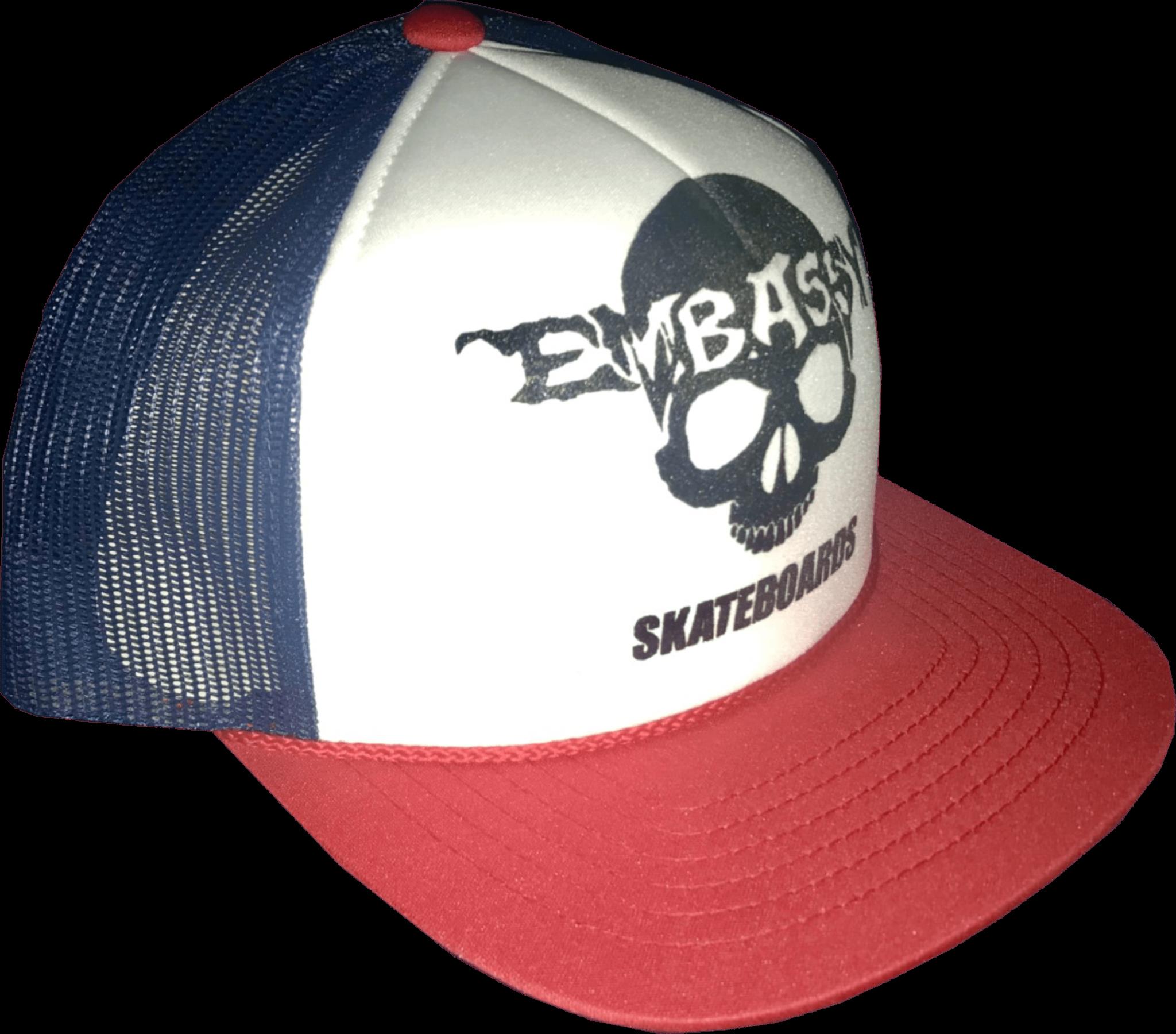 Embassy Embassy - Red Texas Logo Trucker