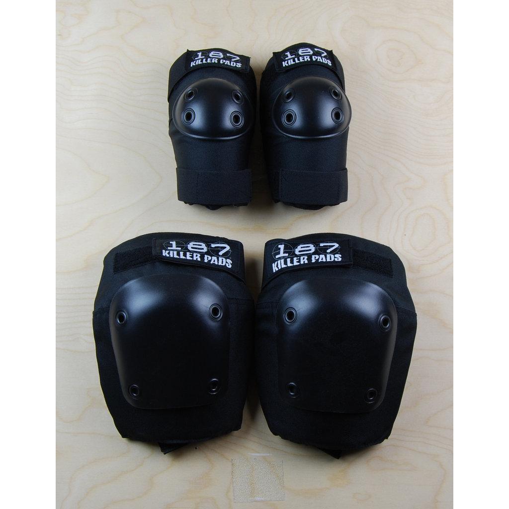 187 187 - Knee/ Elbow Combo Pack Black