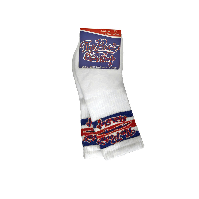 The Point The Point - Classic Logo Socks White