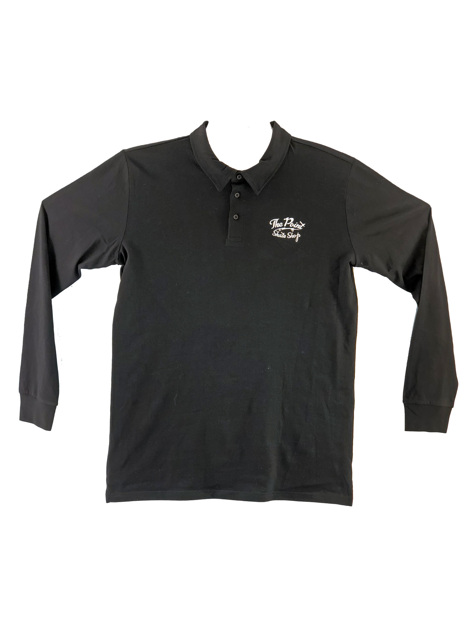 The Point The Point - Classic Logo Polo L/S Black