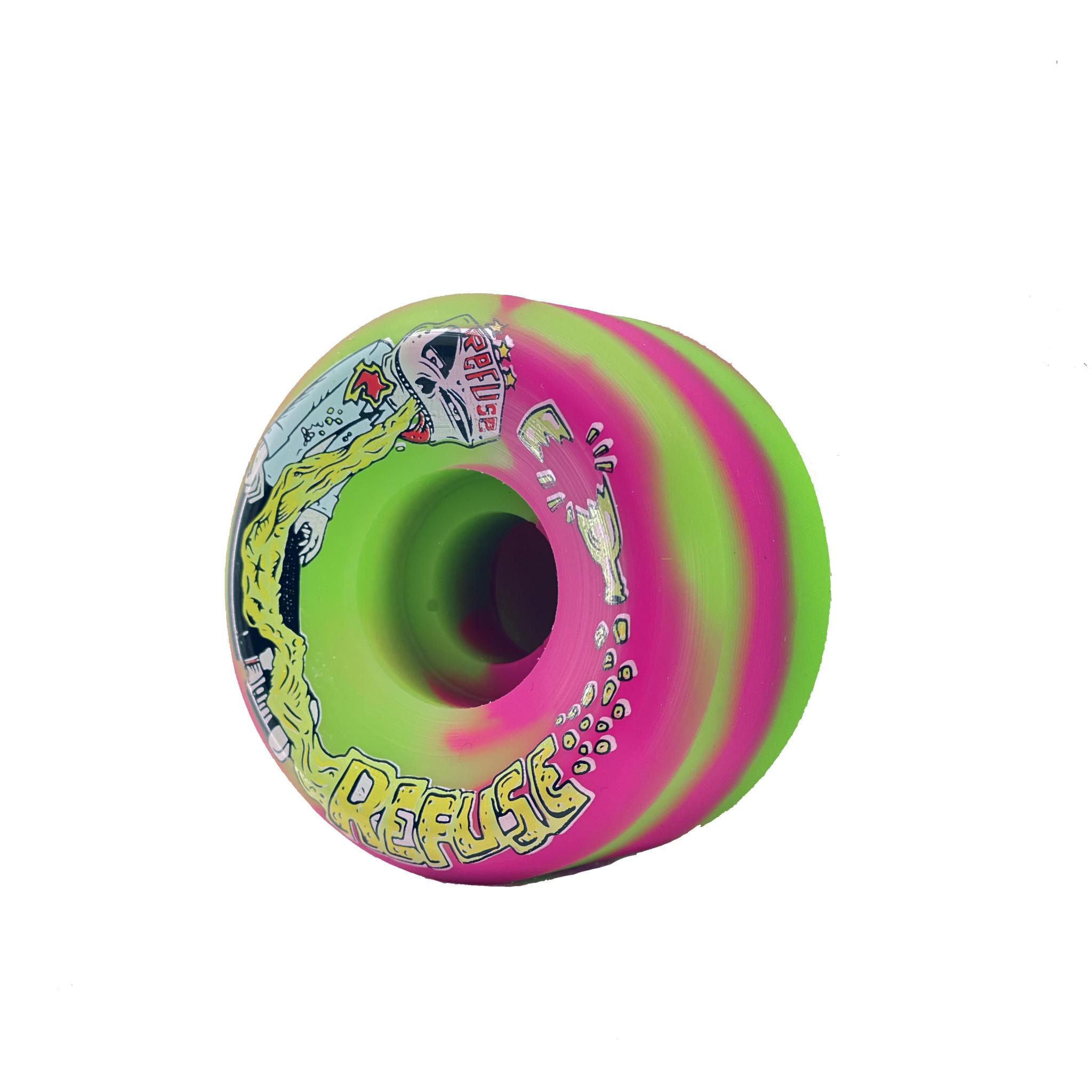 Refuse Wheels Refuse - Pink Green Swirl  101a