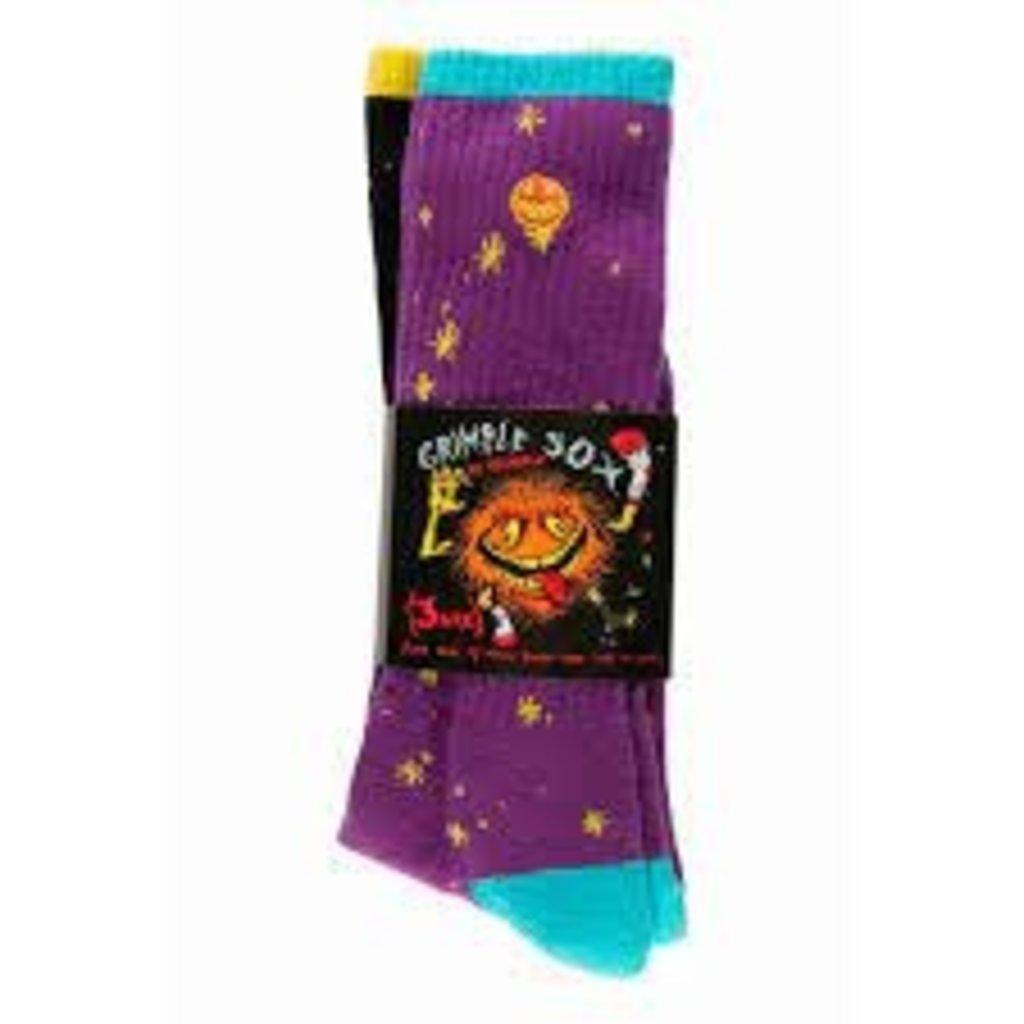 Anti Hero Anti Hero - Grimple 3 PK Sock Purple Black