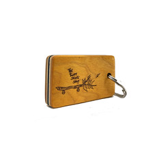 The Point The Point - Wood Pusher Key Chain