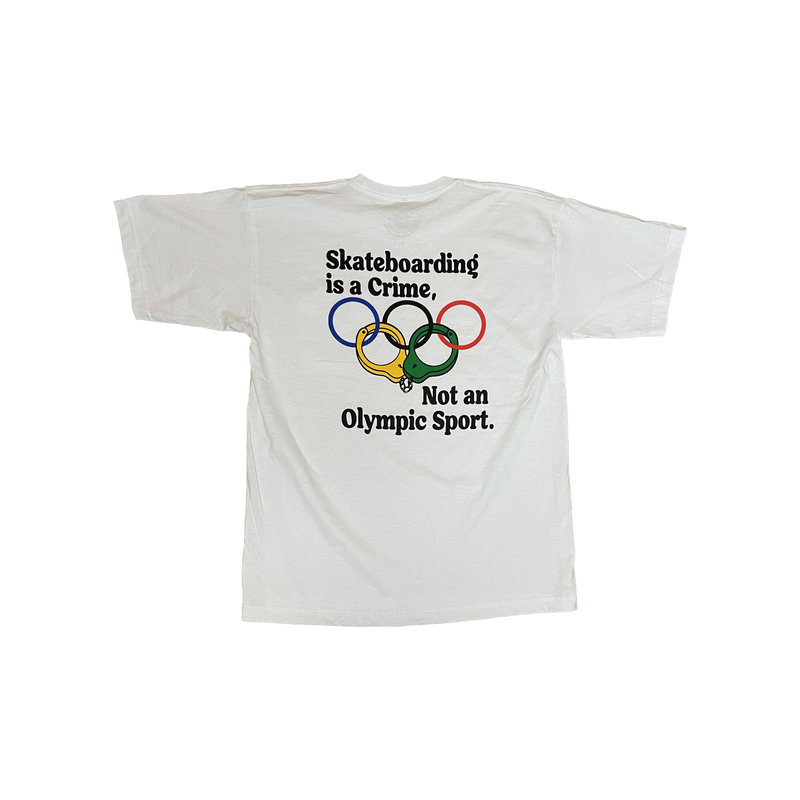 The Point The Point - Skateboarding is a Crime not an Olympic Sport White