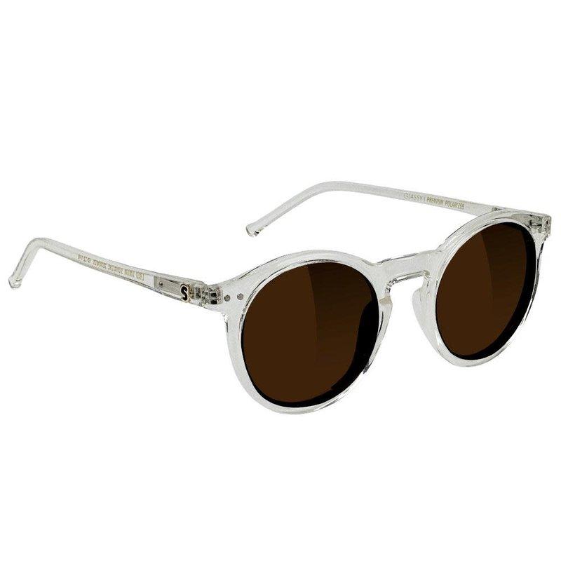 Glassy Glassy - Apollo Premium Polarized Clear Brown Lens