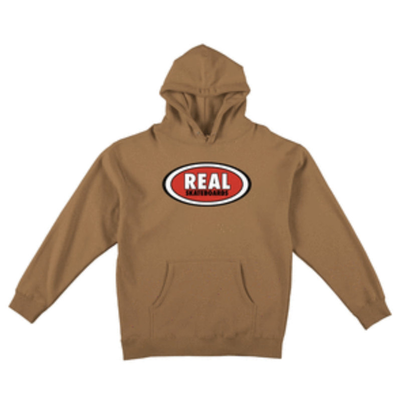 Real Real - Oval Hoodie Saddle Red